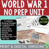 World War I No Prep Unit Bundle: PowerPoints, Passages, Ac