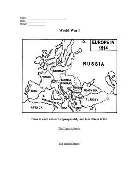World War I Guided Notes & PowerPoint