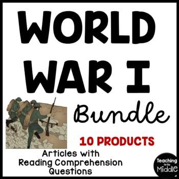 World War I (One) Reading Comprehension Bundle