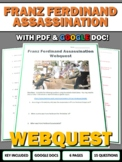 World War I Outbreak - Webquest with Key (Assassination of Franz Ferdinand)