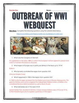 World War I Outbreak - Webquest with Key (Assassination of Franz Ferdinand)