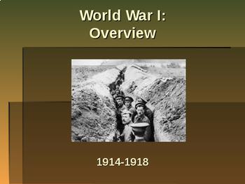 World War I - Overview of World War I