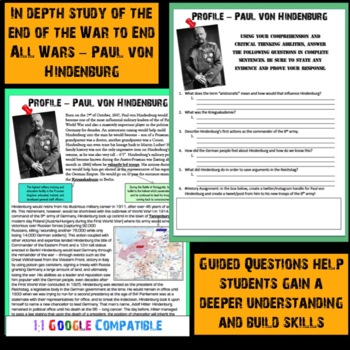 World War I - Paul von Hindenburg Reading!