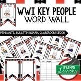 World War I Word Wall, WWI Activity