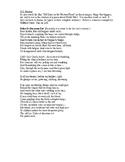 World War I Poem or Rap Project