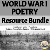 World War I Poetry Unit Bundle