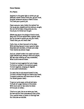 World War I Poetry of Wilfr... by English and History Resources ...