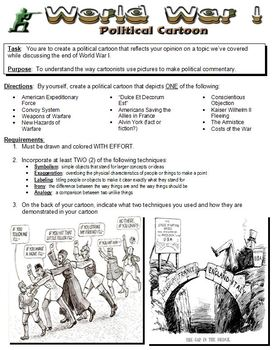 World War I Political Cartoon Assignment