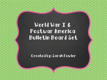 World War I & Postwar America (SS5H4) Bulletin Board Set