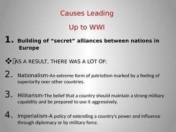 World War I Power Point Presentation