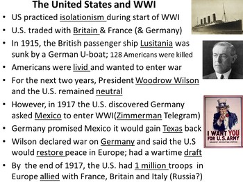 World War I PowerPoint and Guided Notes Sheet