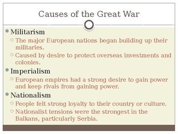 World War I- PowerPoint