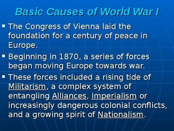 World War I PowerPoint