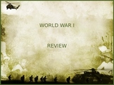 World War I PowerPoint Review/Test Questions with animated answer pop up
