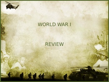 World War I PowerPoint Review/Test Questions with animated