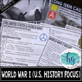 World War I PowerPoint and Guided Notes for U.S. History (Print and Digital)