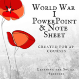 World War I PowerPoint for AP European or AP World History w/ Notes
