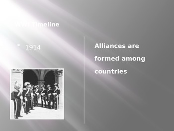 World War I Powerpoint Timeline with Graphic Organizer