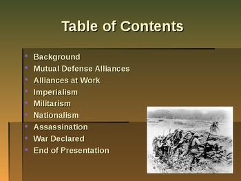 World War I - Primary Causes of World War I