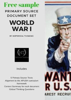 World War I Primary Source Set