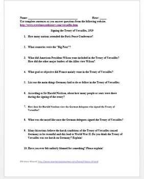 treaty of versailles worksheet resultinfos. Black Bedroom Furniture Sets. Home Design Ideas