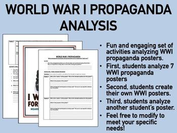 World War I Propaganda Analysis Set of Activities - Global/World/US History