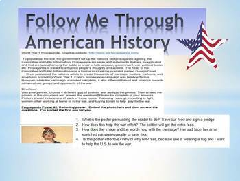 World War I Propaganda  Poster  Research