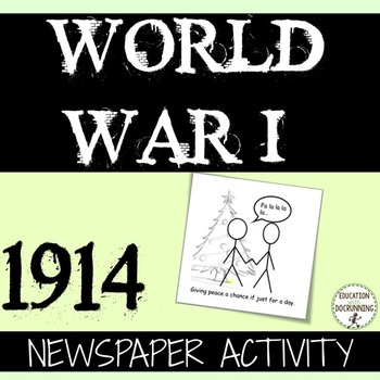 World War I Quick and Easy Newspaper Activity for 1914