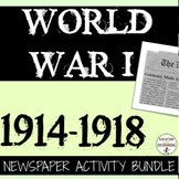 World War 1 Newspaper Project Bundle 30+ INFORMATIONAL TEX