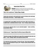 World War I: Quotation Analysis Worksheet, Homework, or Discussion Printable