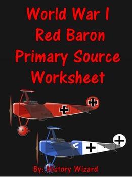 World War I Red Baron Primary Source Worksheet