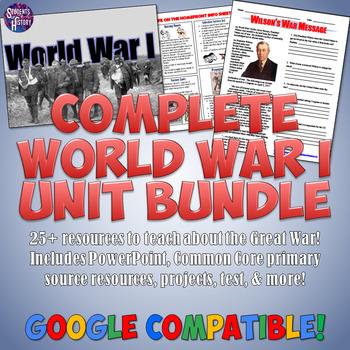 World War I Unit and Lesson Plan Set