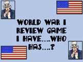 World War I Review Game