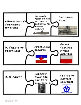 World War I, Review Games and Editable Test and Study Guide