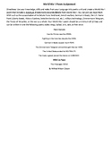 World War I Review Poem and Poem Assignment