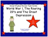 GA Milestones World War I, Roaring 20's, and Great Depression Task Cards