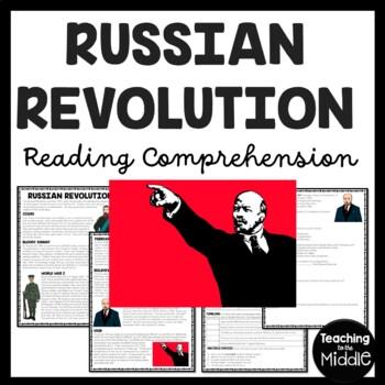 World War I- Russian Revolution Reading Comprehension Work