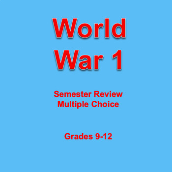 Digital World War I Semester Review Game, AP, Editable, Powerpoint