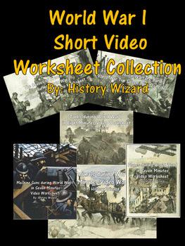 World War I Short Video Worksheet Collection