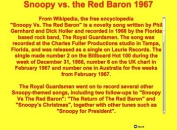 World War I - Snoopy vs Red Baron - Bill Burton