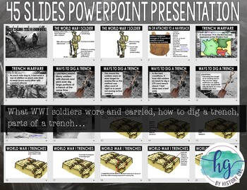 World War I Soldiers and Trench Life {PowerPoint,Guided Notes and More!}