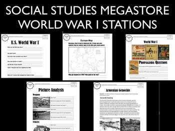 World War I WWI Stations World  History
