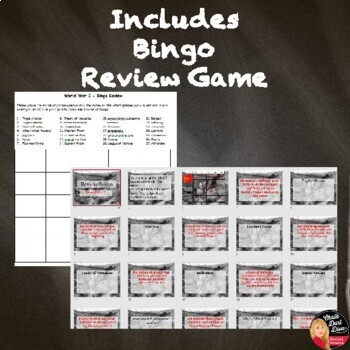 World War I: TEST and Review Games (World History)