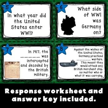 World War I Task Cards