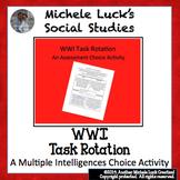 World War I Task Rotation Assessment or Homework Assignment