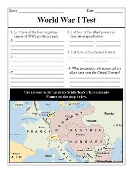 World War I Test