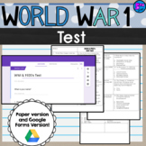 World War I Test 5th grade SS5H2