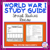 World War I Test Prep Worksheets