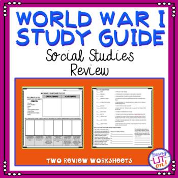 World War I Test Prep Worksheets