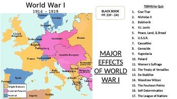 World War I: Effects of the 1st Modern War